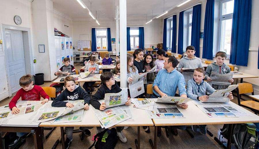 Zig 2019: 3500 Kinder lesen bei Zeitung in der Grundschule Tageszeitung